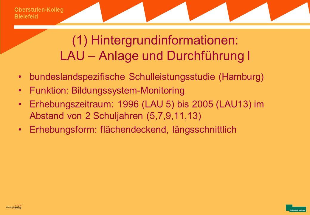 (1) Hintergrundinformationen: LAU – Anlage und Durchführung I