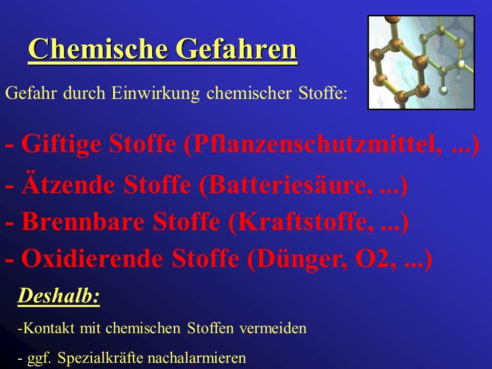 Chemische Gefahren - Giftige Stoffe (Pflanzenschutzmittel, ...)