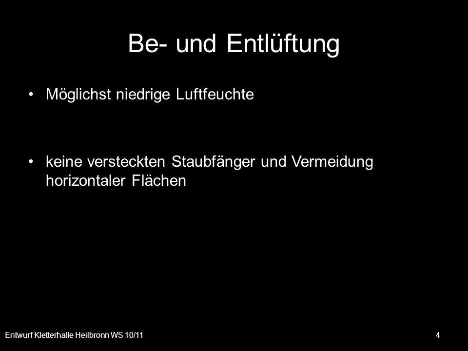 Entwurf Kletterhalle Heilbronn WS 10/11