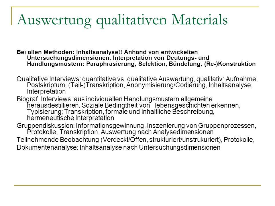 Auswertung qualitativen Materials