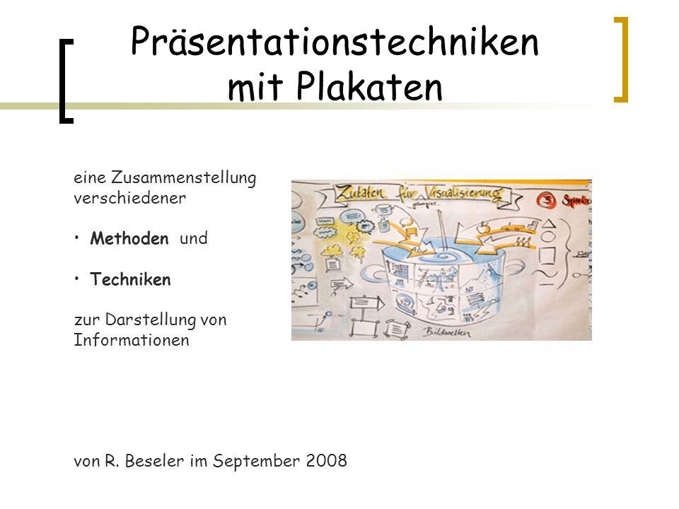 Präsentationstechniken mit Plakaten