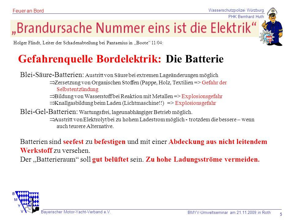 Gefahrenquelle Bordelektrik: Die Batterie