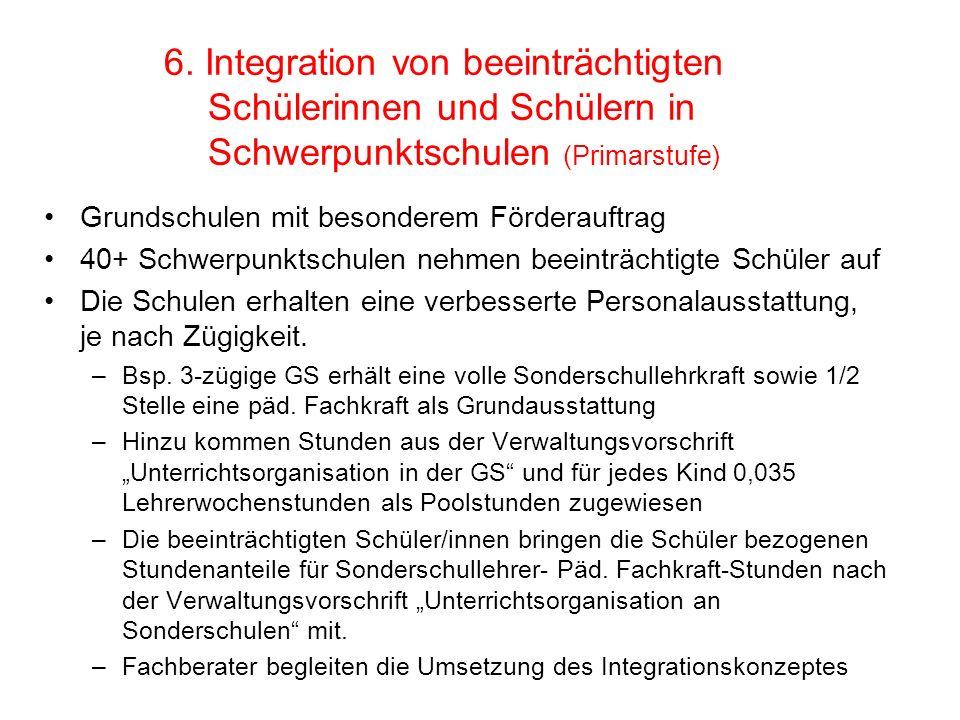 6. Integration von beeinträchtigten. Schülerinnen und Schülern in