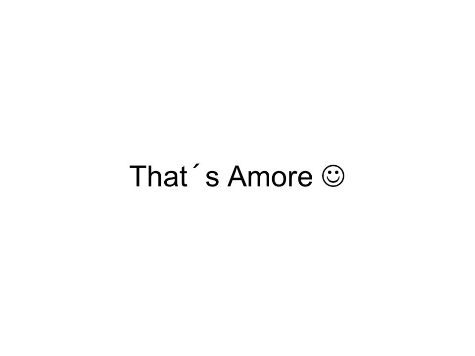 That´s Amore 