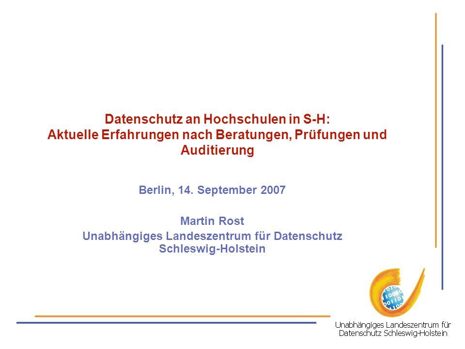 Unabhängiges Landeszentrum für Datenschutz Schleswig-Holstein