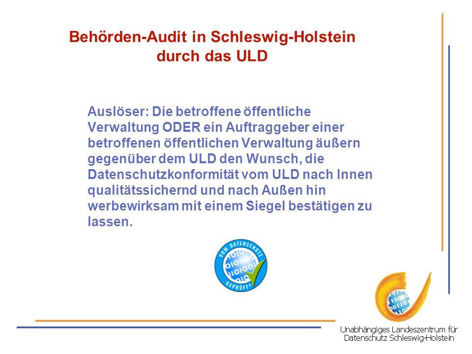 Behörden-Audit in Schleswig-Holstein durch das ULD