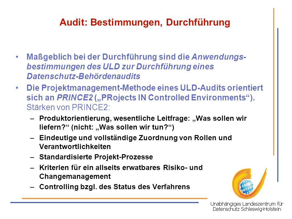 Audit: Bestimmungen, Durchführung
