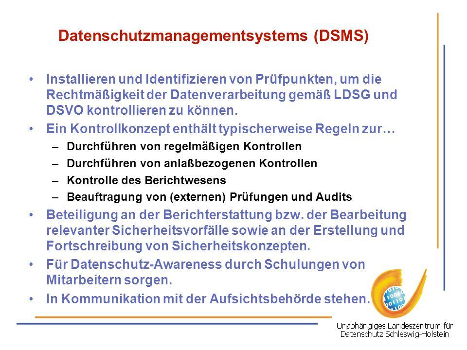 Datenschutzmanagementsystems (DSMS)