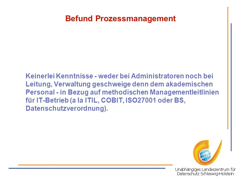 Befund Prozessmanagement