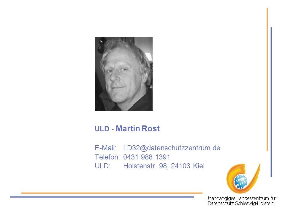 E-Mail: LD32@datenschutzzentrum.de
