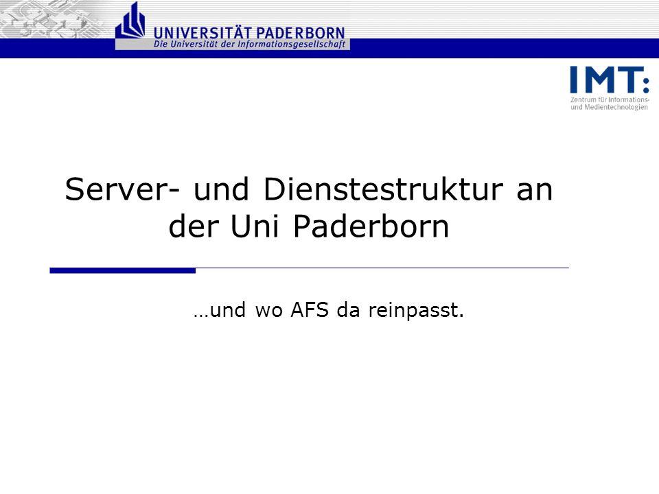 Server- und Dienstestruktur an der Uni Paderborn
