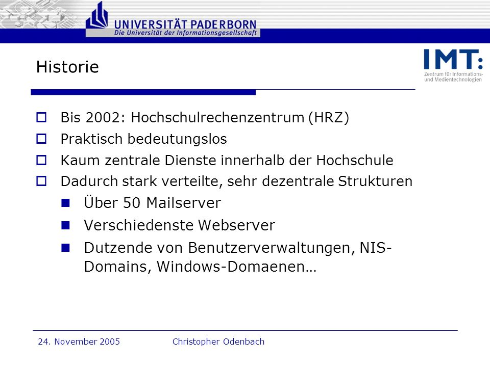 Historie Über 50 Mailserver Verschiedenste Webserver