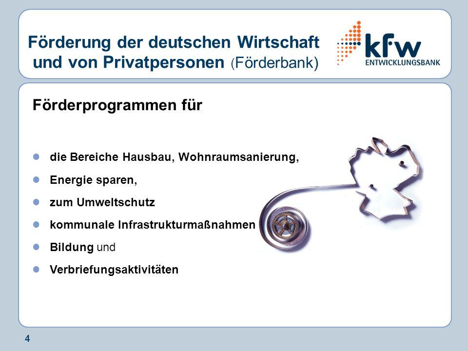 Förderung der deutschen Wirtschaft und von Privatpersonen (Förderbank)
