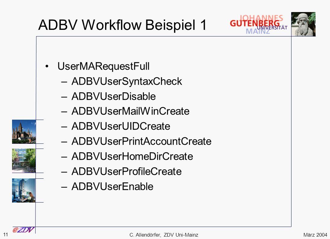 ADBV Workflow Beispiel 1