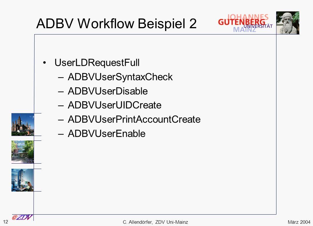 ADBV Workflow Beispiel 2