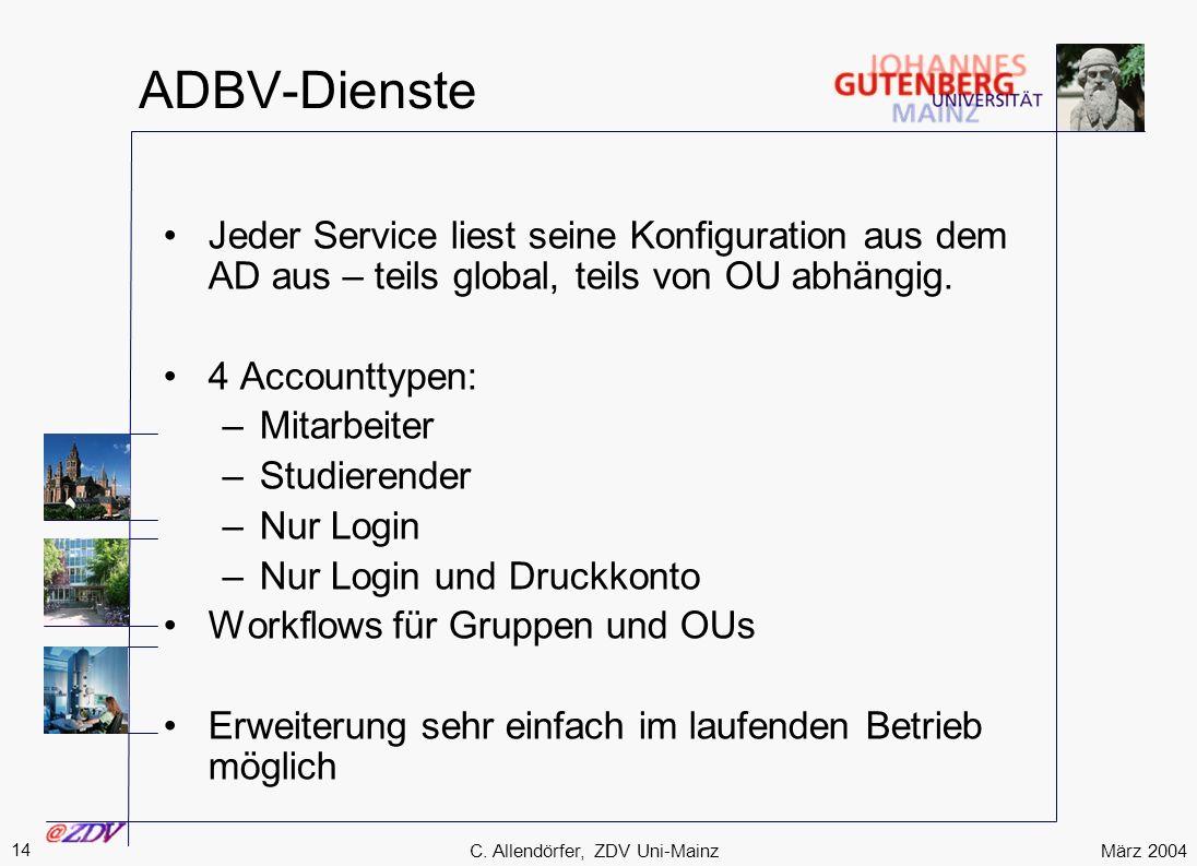 C. Allendörfer, ZDV Uni-Mainz