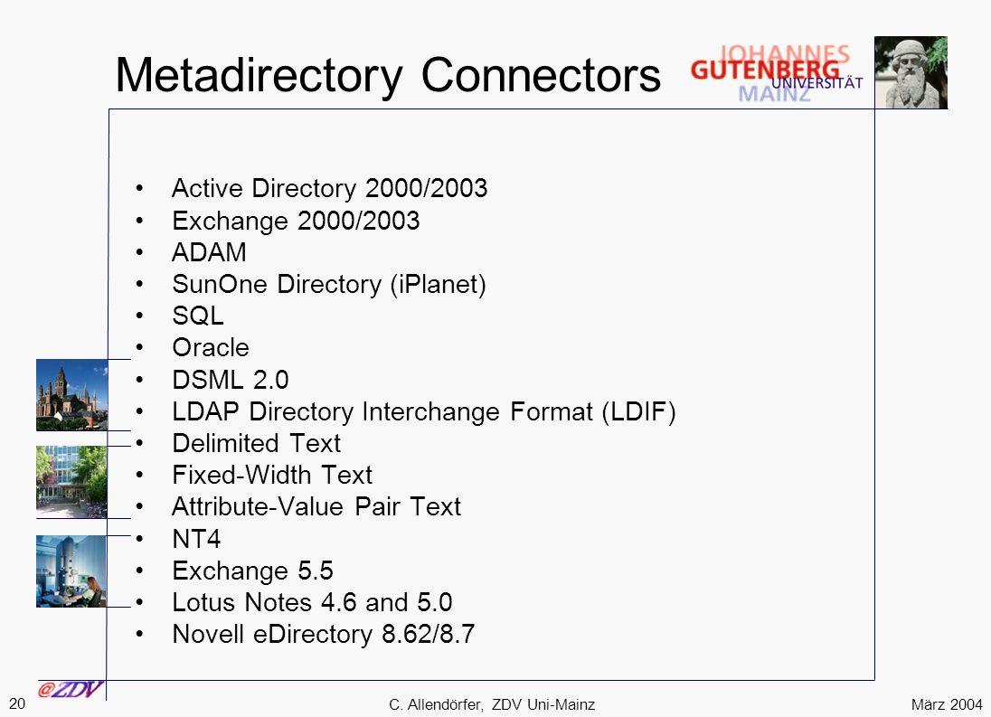 Metadirectory Connectors
