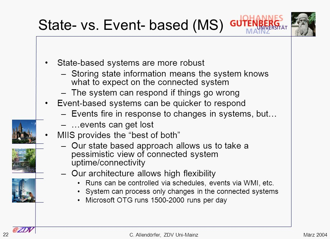 State- vs. Event- based (MS)