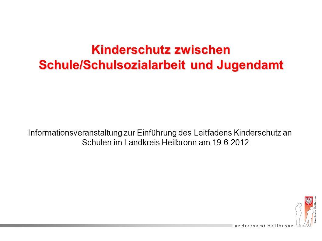 Kinderschutz zwischen Schule/Schulsozialarbeit und Jugendamt
