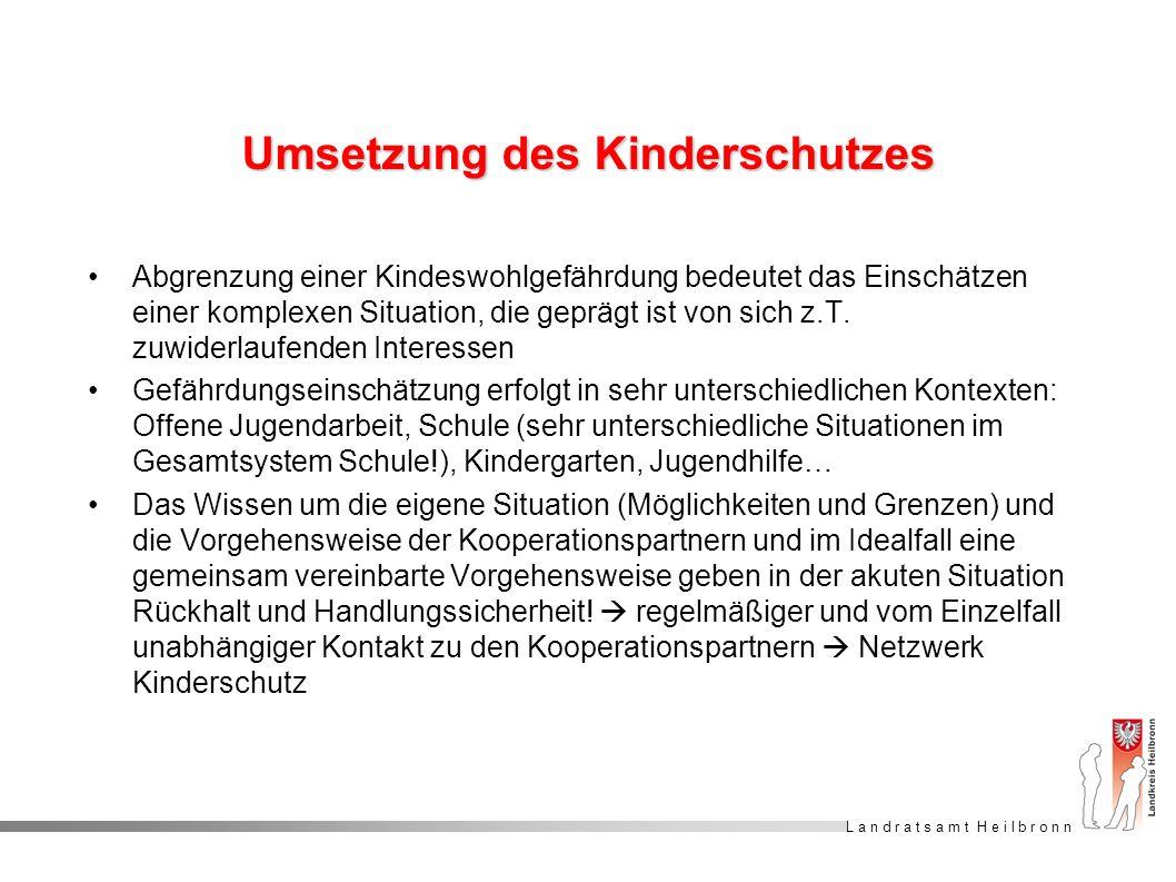 Umsetzung des Kinderschutzes