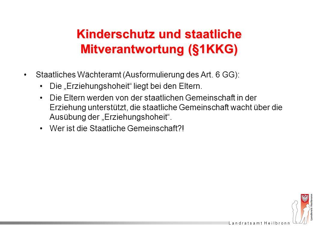 Kinderschutz und staatliche Mitverantwortung (§1KKG)