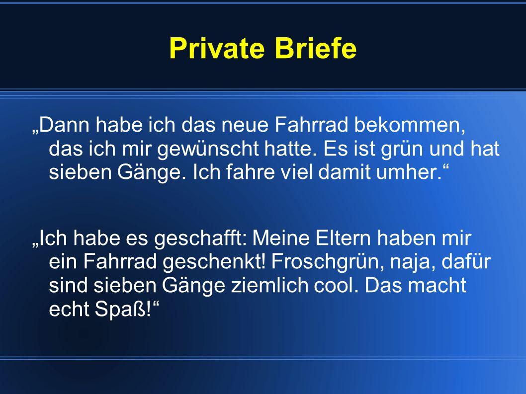 Private Briefe