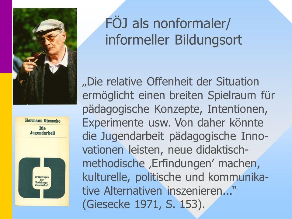 FÖJ als nonformaler/ informeller Bildungsort