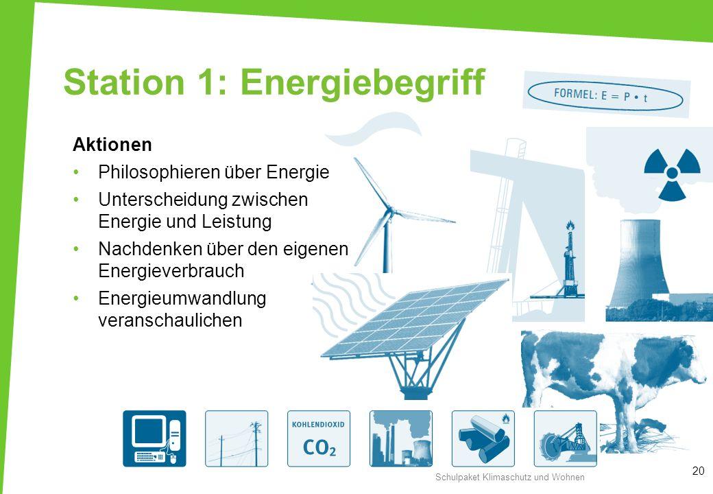 Station 1: Energiebegriff
