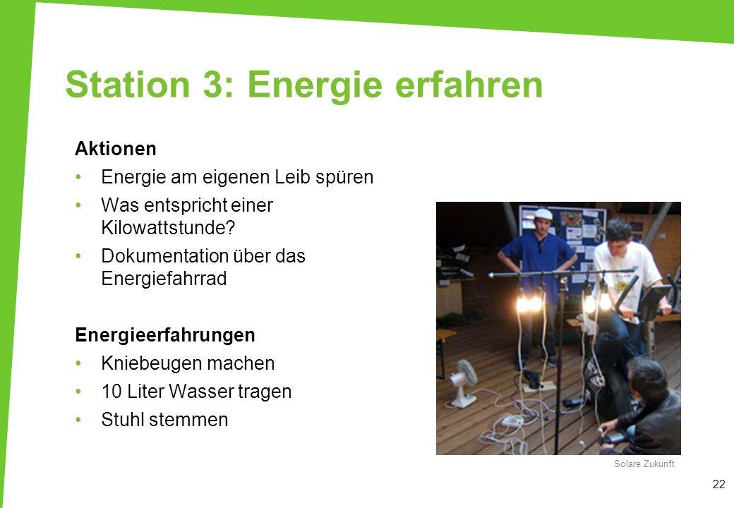 Station 3: Energie erfahren