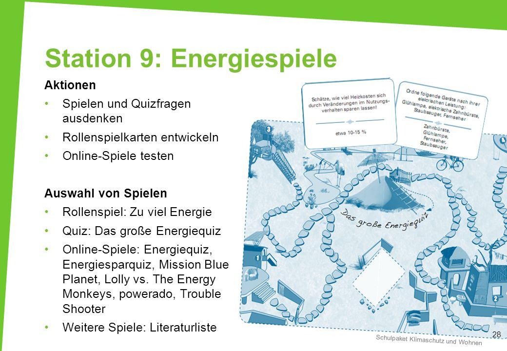 Station 9: Energiespiele