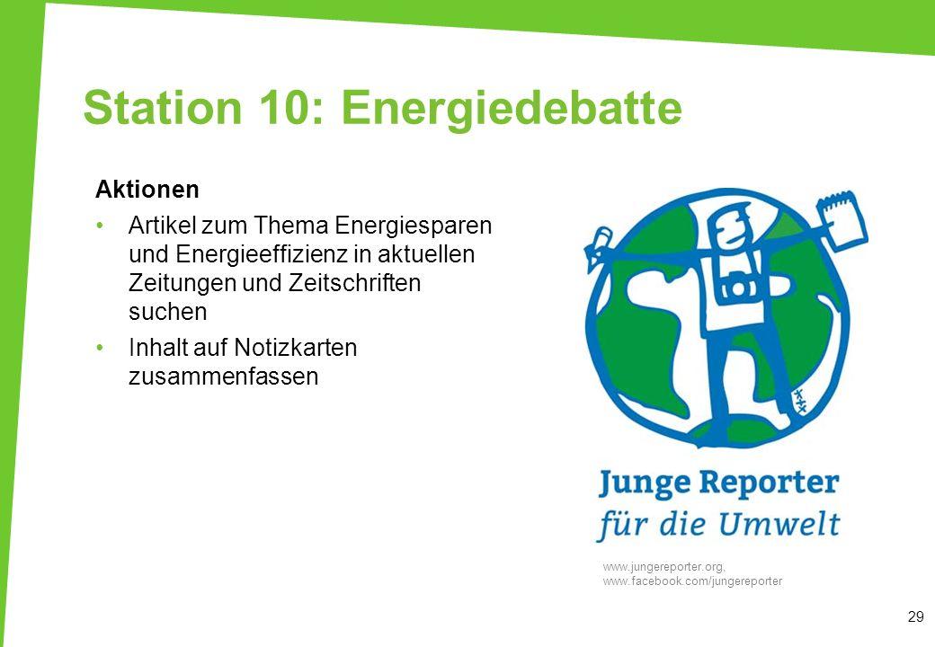 Station 10: Energiedebatte