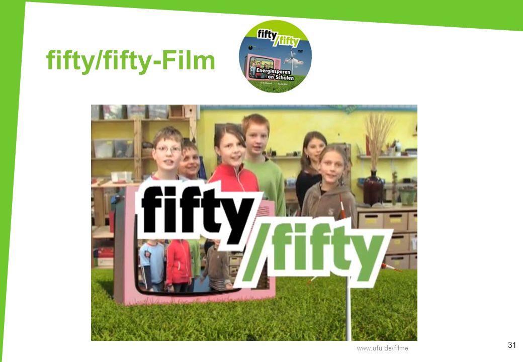 fifty/fifty-Film Film: fifty/fifty Energiesparen an Schulen (14:30 min, UfU)