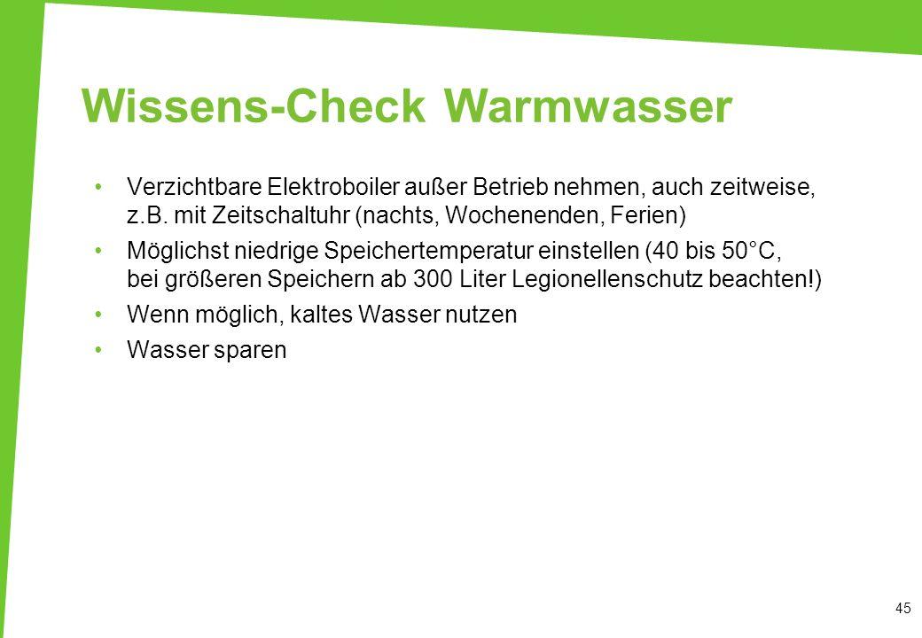 Wissens-Check Warmwasser