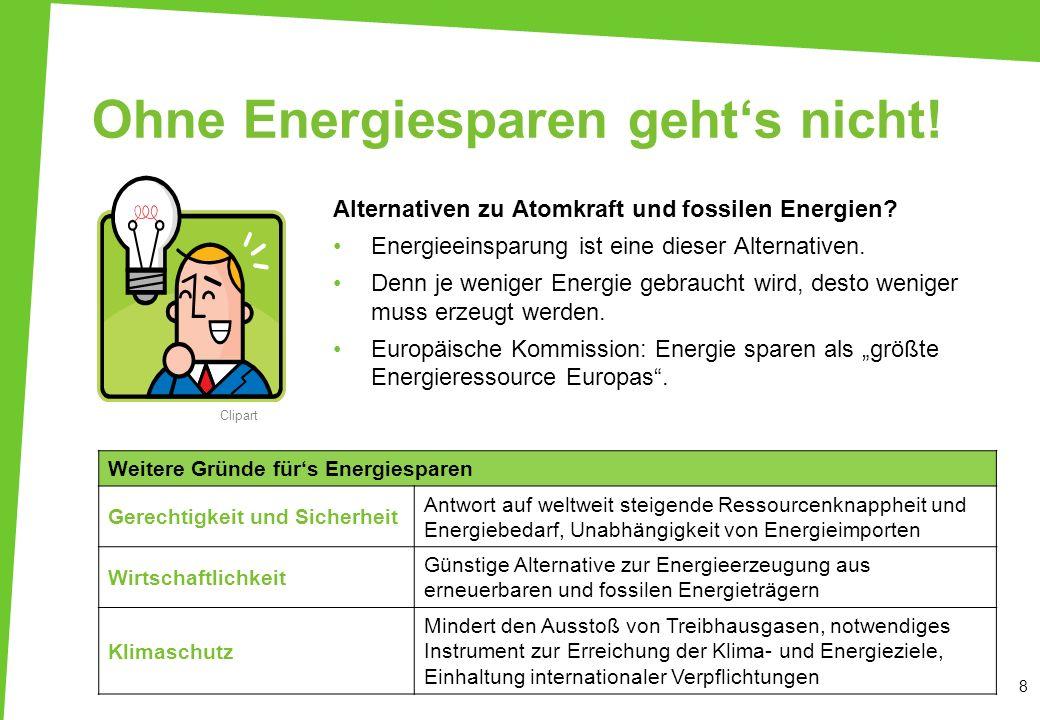 Ohne Energiesparen geht's nicht!