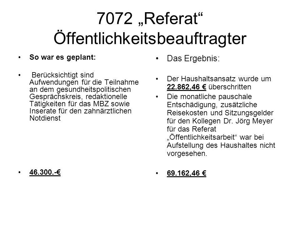 """7072 """"Referat Öffentlichkeitsbeauftragter"""