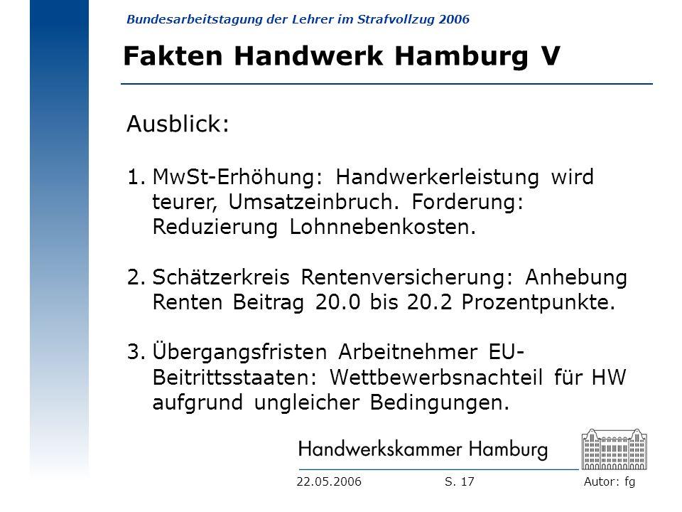 Fakten Handwerk Hamburg V