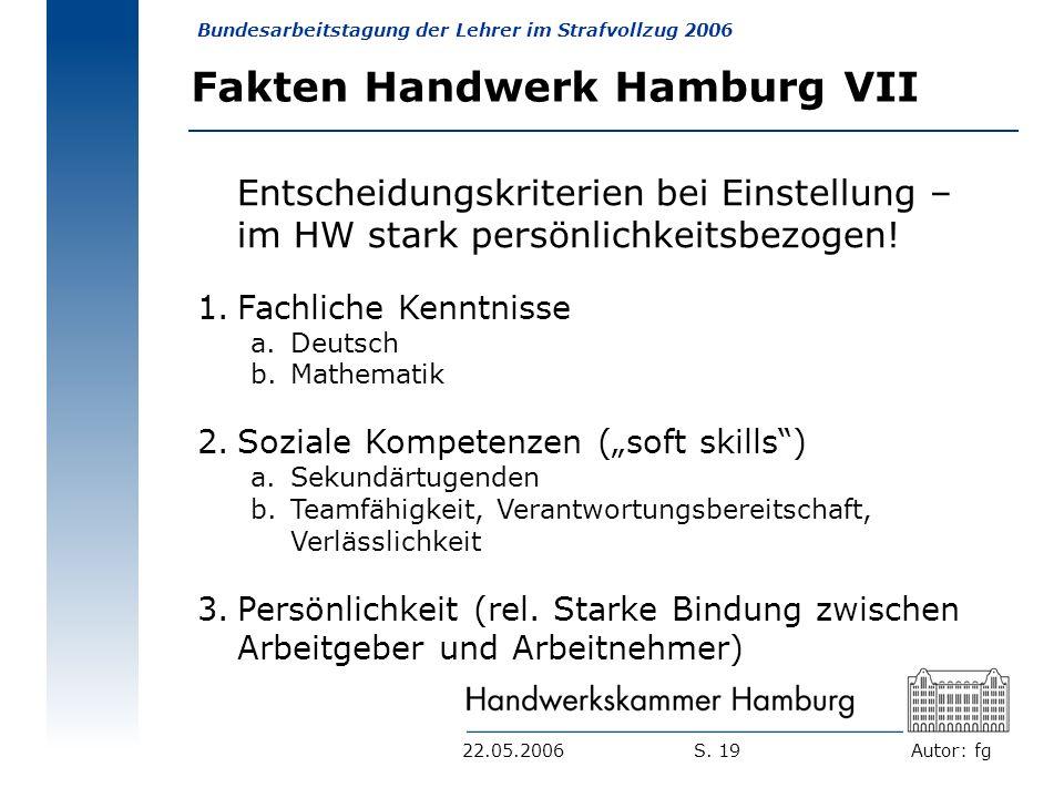 Fakten Handwerk Hamburg VII