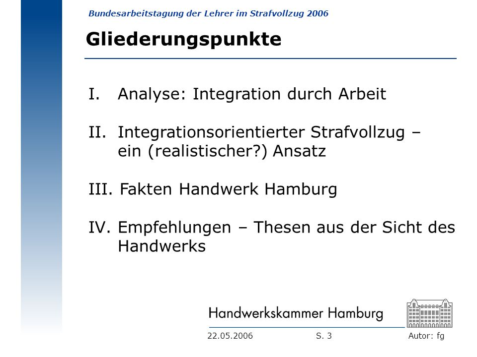 Gliederungspunkte Analyse: Integration durch Arbeit