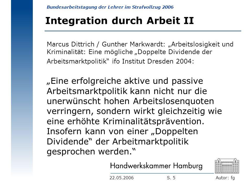 Integration durch Arbeit II