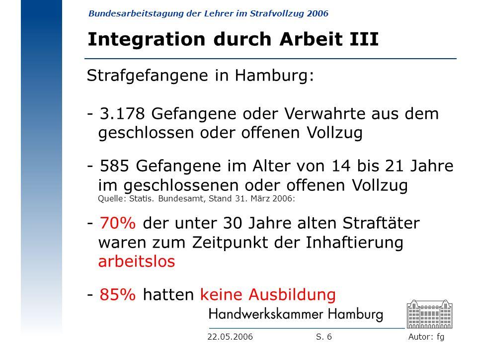 Integration durch Arbeit III