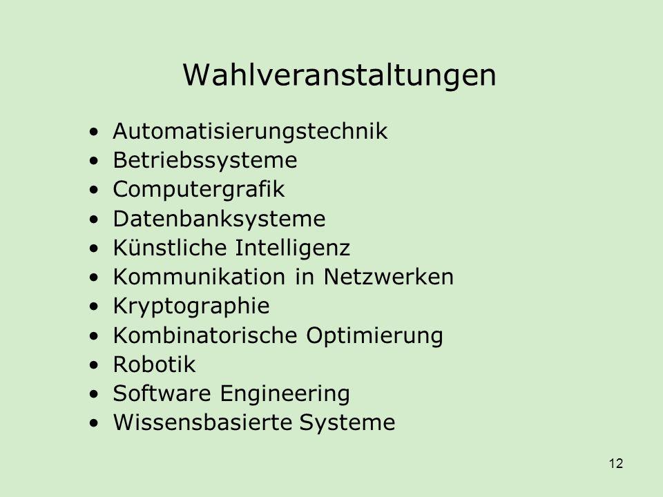 Wahlveranstaltungen Automatisierungstechnik Betriebssysteme