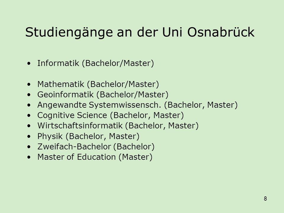 Studiengänge an der Uni Osnabrück