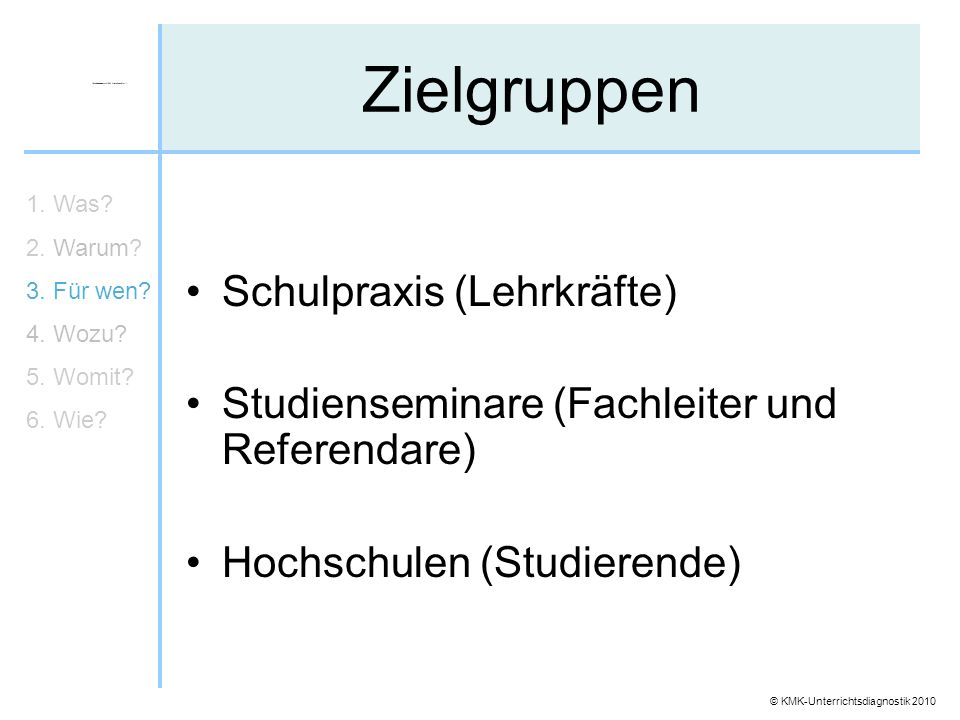 Zielgruppen Schulpraxis (Lehrkräfte)