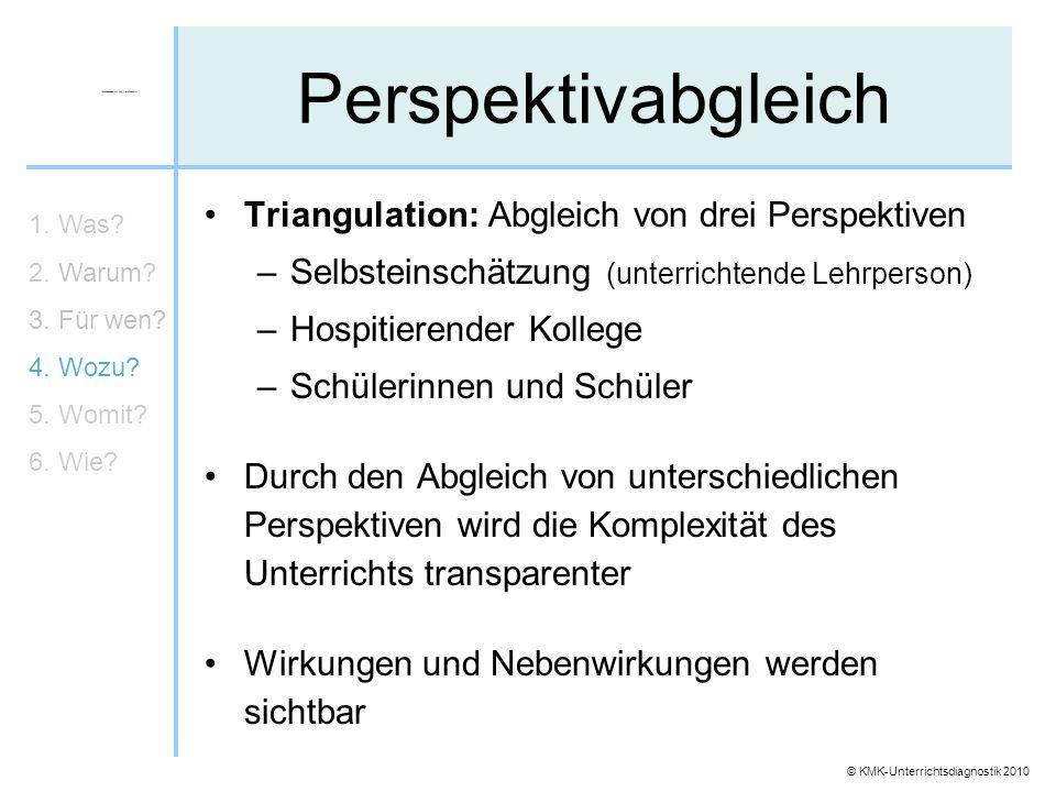 Perspektivabgleich Triangulation: Abgleich von drei Perspektiven