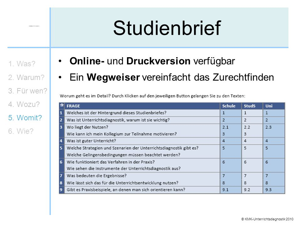 Studienbrief Online- und Druckversion verfügbar