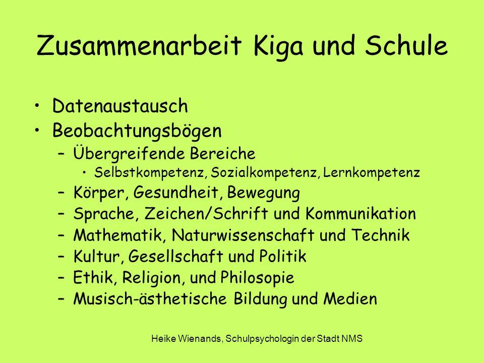 Zusammenarbeit Kiga und Schule