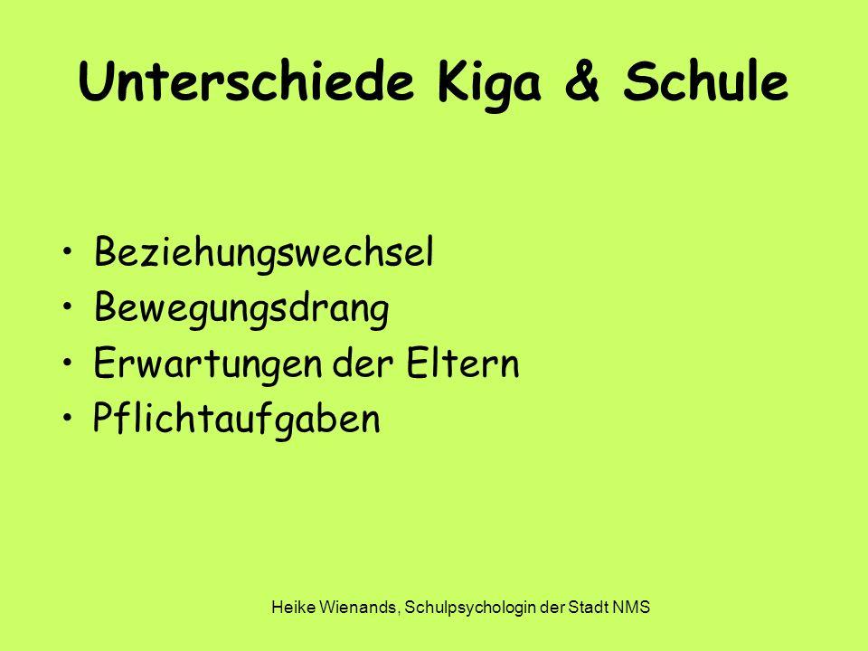 Unterschiede Kiga & Schule