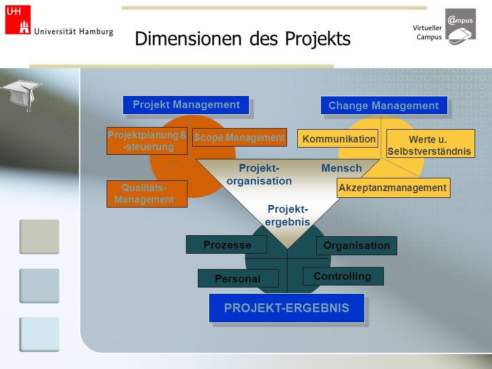 Dimensionen des Projekts