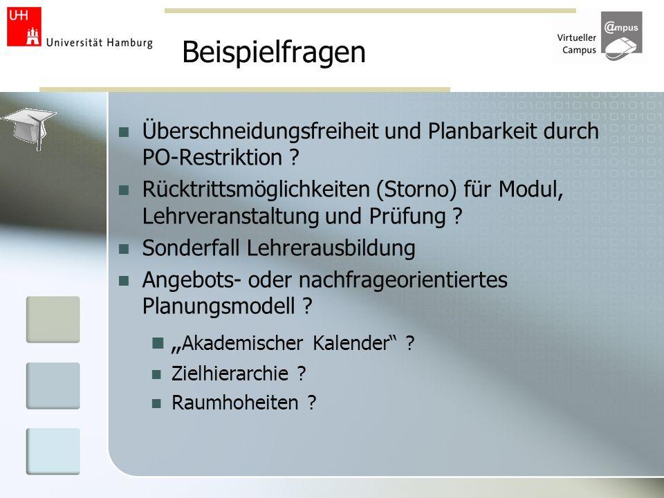 """Beispielfragen """"Akademischer Kalender"""