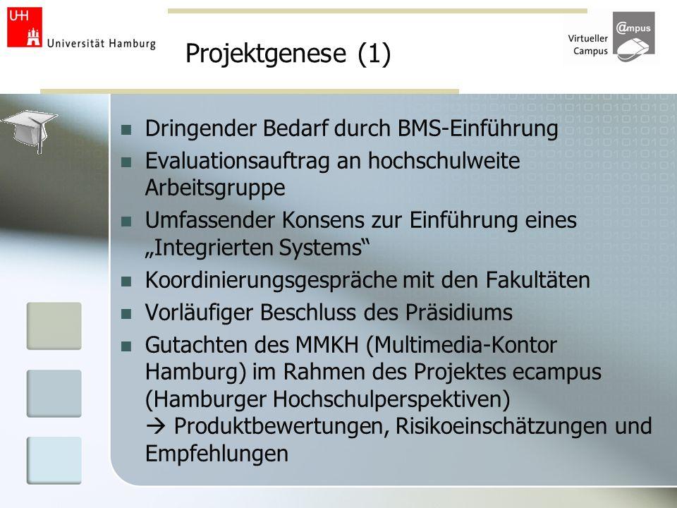 Projektgenese (1) Dringender Bedarf durch BMS-Einführung
